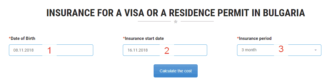 How to order Bulgarian insurance police. Step 1